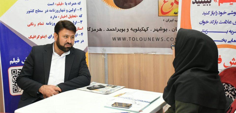 فرماندار کازرون در غرفه طلوع در نمایشگاه کتاب فارس: اگر یکهزار کتابخانه ساخته شود اما کتابخوانی نباشد، تغییری در جامعه رخ نخواهد داد