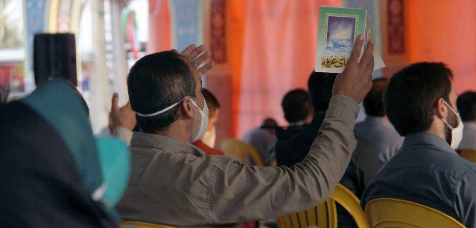 گزارش تصویری: طنین دعای پرفیض عرفه در کازرون